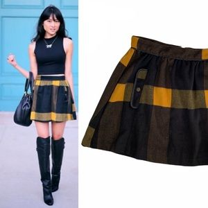 Free People Buffalo Plaid Flannel Skirt